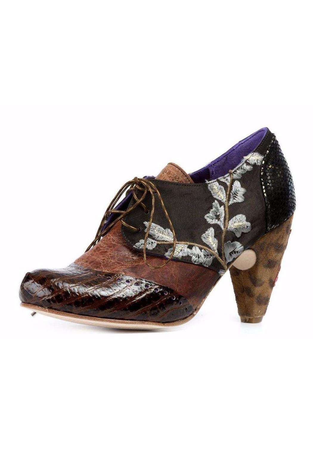 Altura Siete Brown Ankle-Laced Booties - Main Image