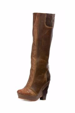 Shoptiques Product: Brown Platform Long-Boots