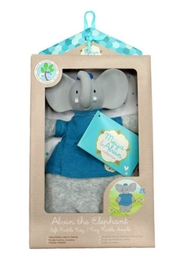 Creative Education of Canada Alvin-The-Elephant Toy Rattle - Front full body