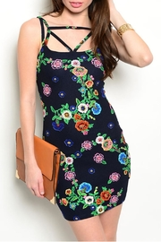 Always Navy Floral Dress - Front cropped