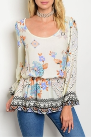 Always Me Floral Mock Top - Product Mini Image