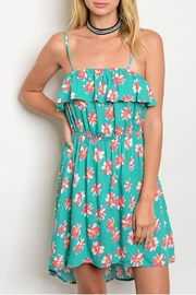 Always Me Jade Floral Dress - Front cropped