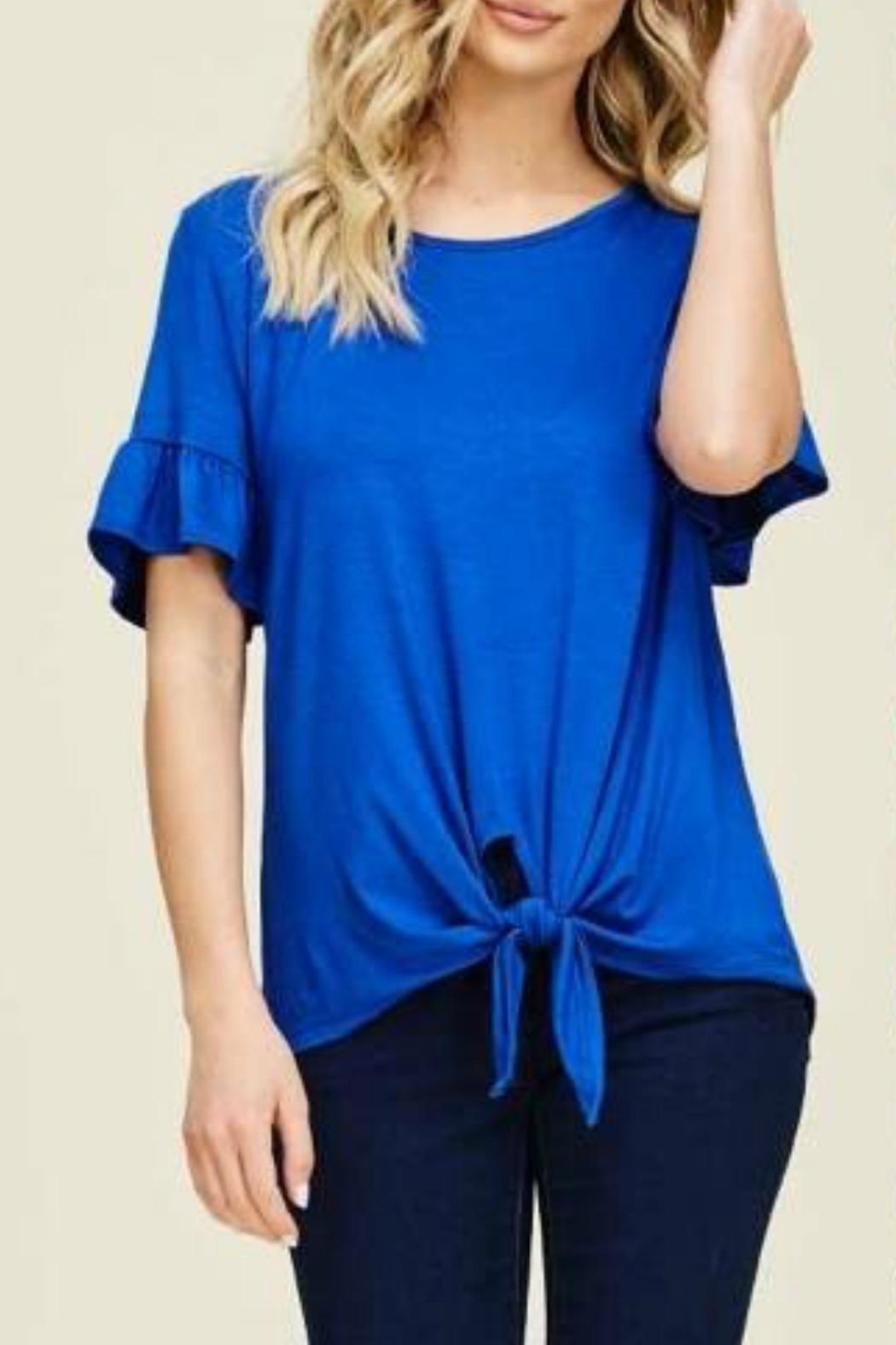 Izzie's Boutique Aly Blue Tee - Main Image
