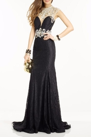 Alyce Paris Black Nude Dress - Front cropped