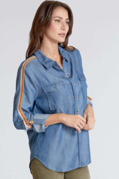 Dear John Alyssa Chambray Lyocell Button Down - Product List Image