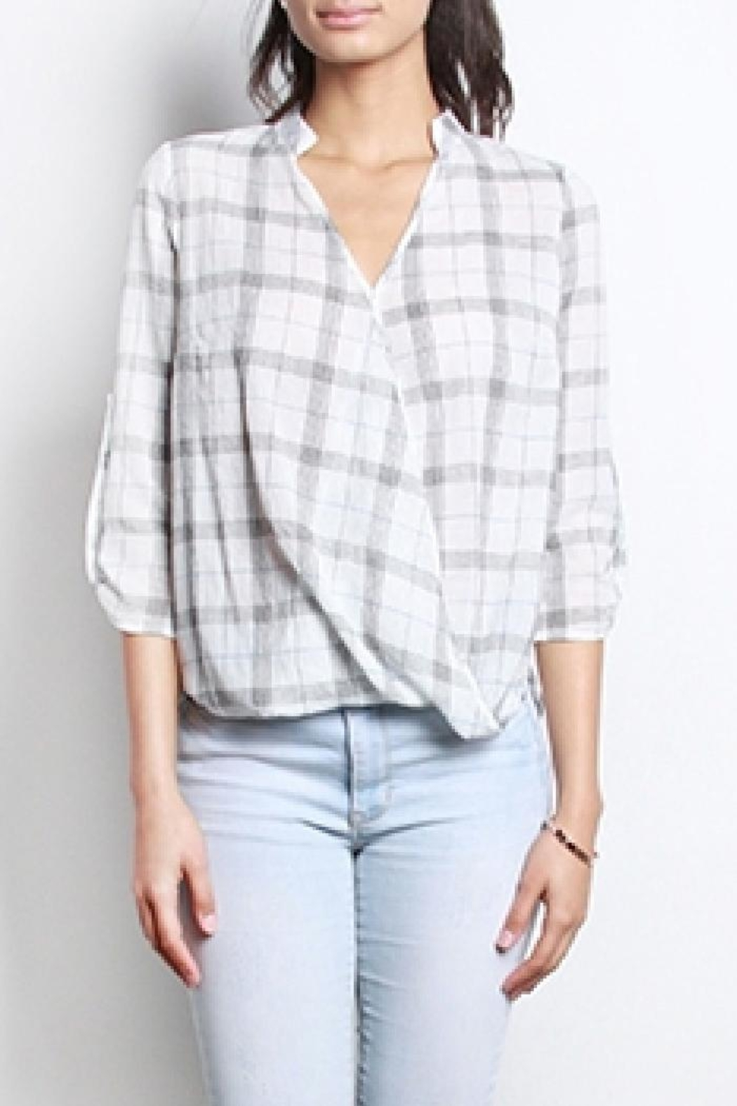 Mod Ref Alyssa Plaid Top - Front Cropped Image