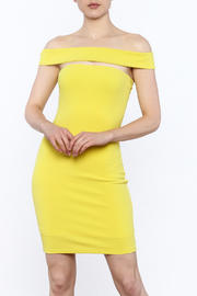 Alythea Yellow Bodycon Dress - Product Mini Image