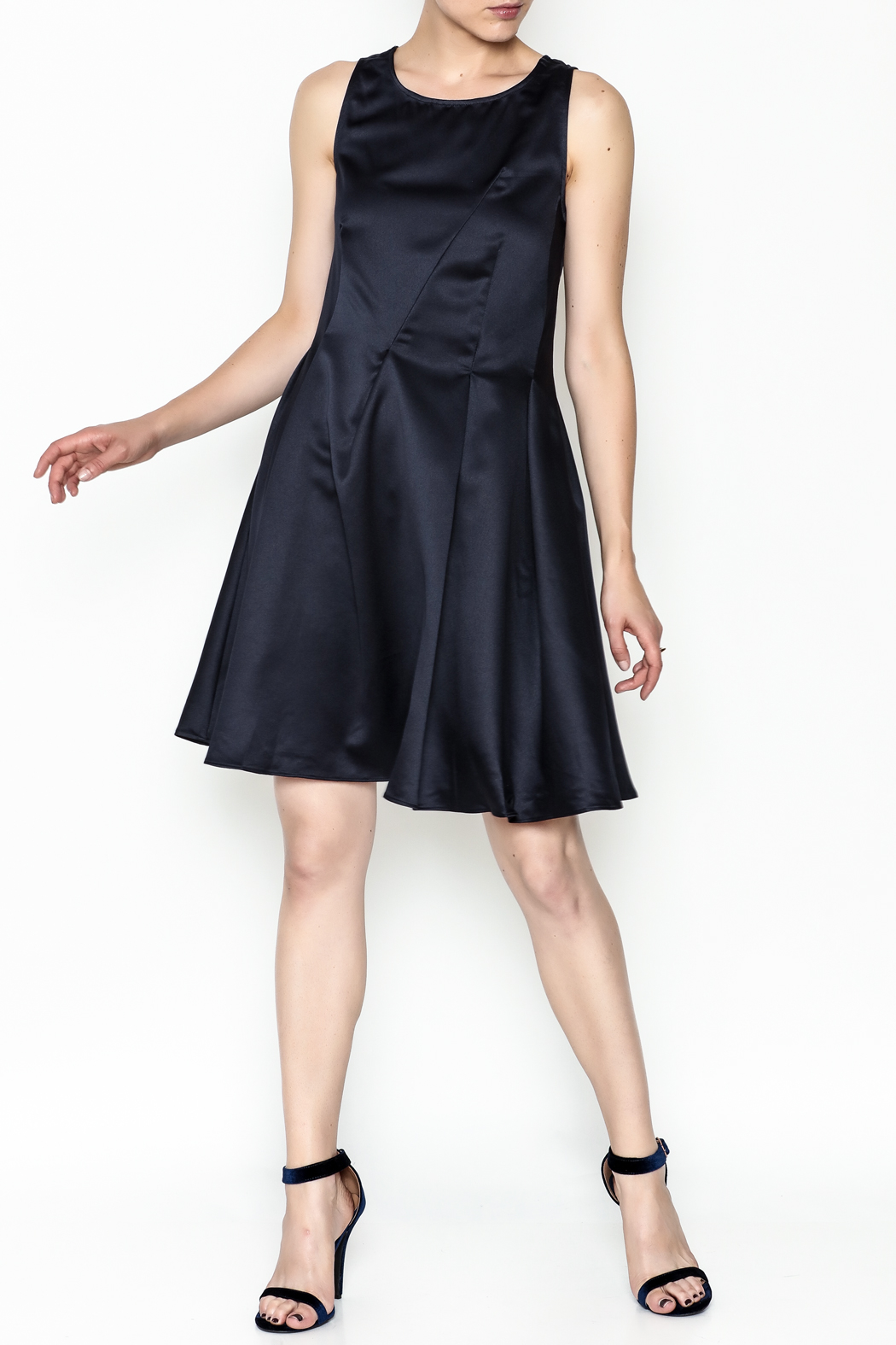 Alythea Satin Tie Back Dress - Side Cropped Image