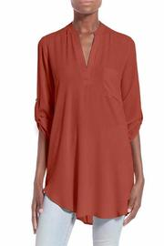 Alythea Brick Tunic Blouse - Product Mini Image