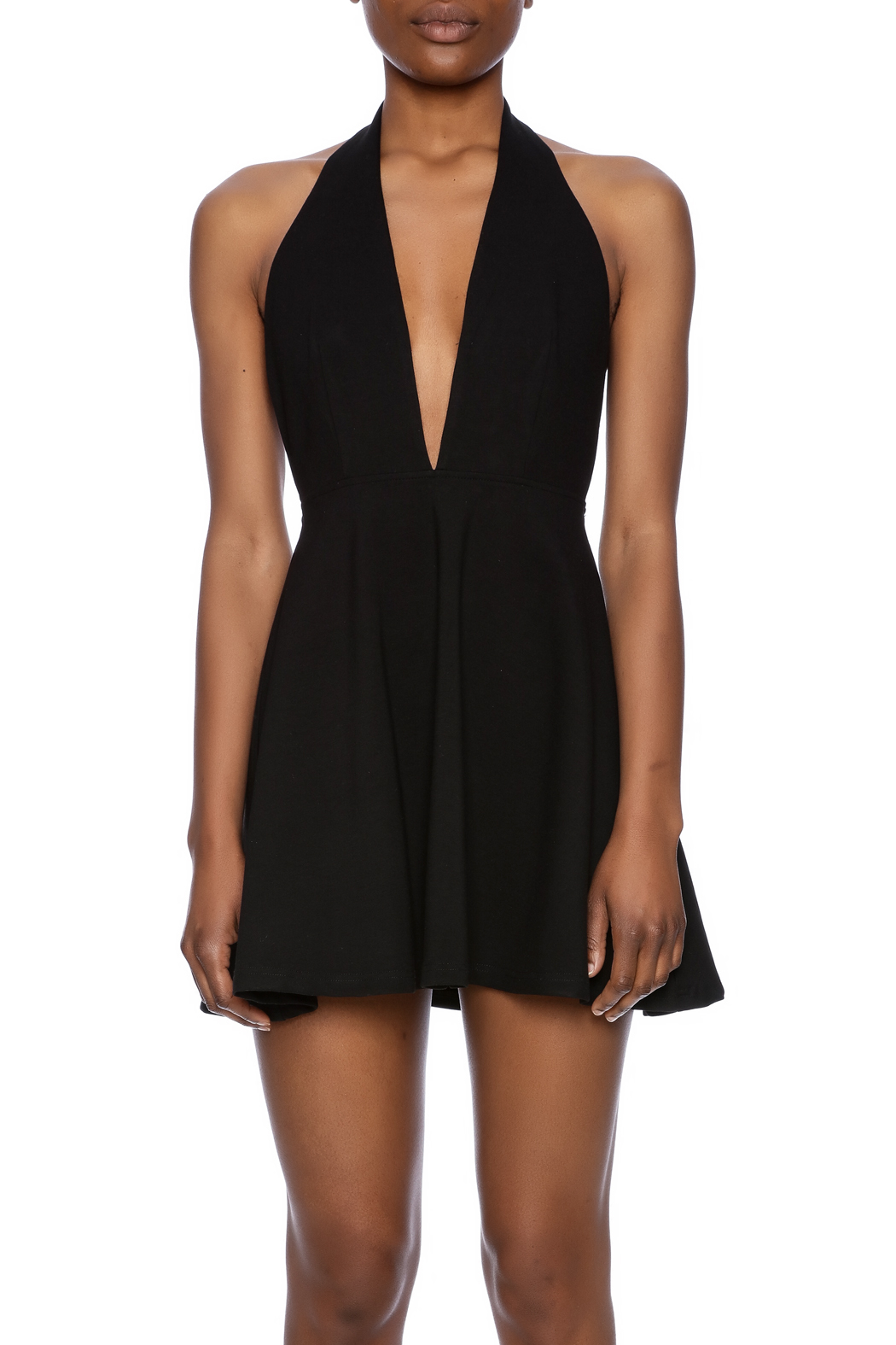 Alythea Deep V Halter Dress from West Village by Pink ...