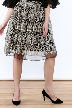 Shoptiques Product: Embroidered Statement Skirt