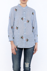 Alythea Stripe Embroidered Top - Product Mini Image