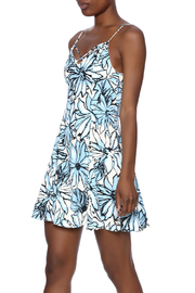 Alythea Floral Lace-Up Dress - Front cropped