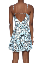 Alythea Floral Lace-Up Dress - Back cropped