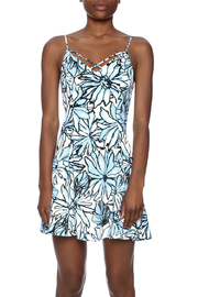 Alythea Floral Lace-Up Dress - Side cropped