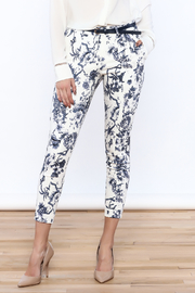 Alythea Beige Floral Pants - Product Mini Image