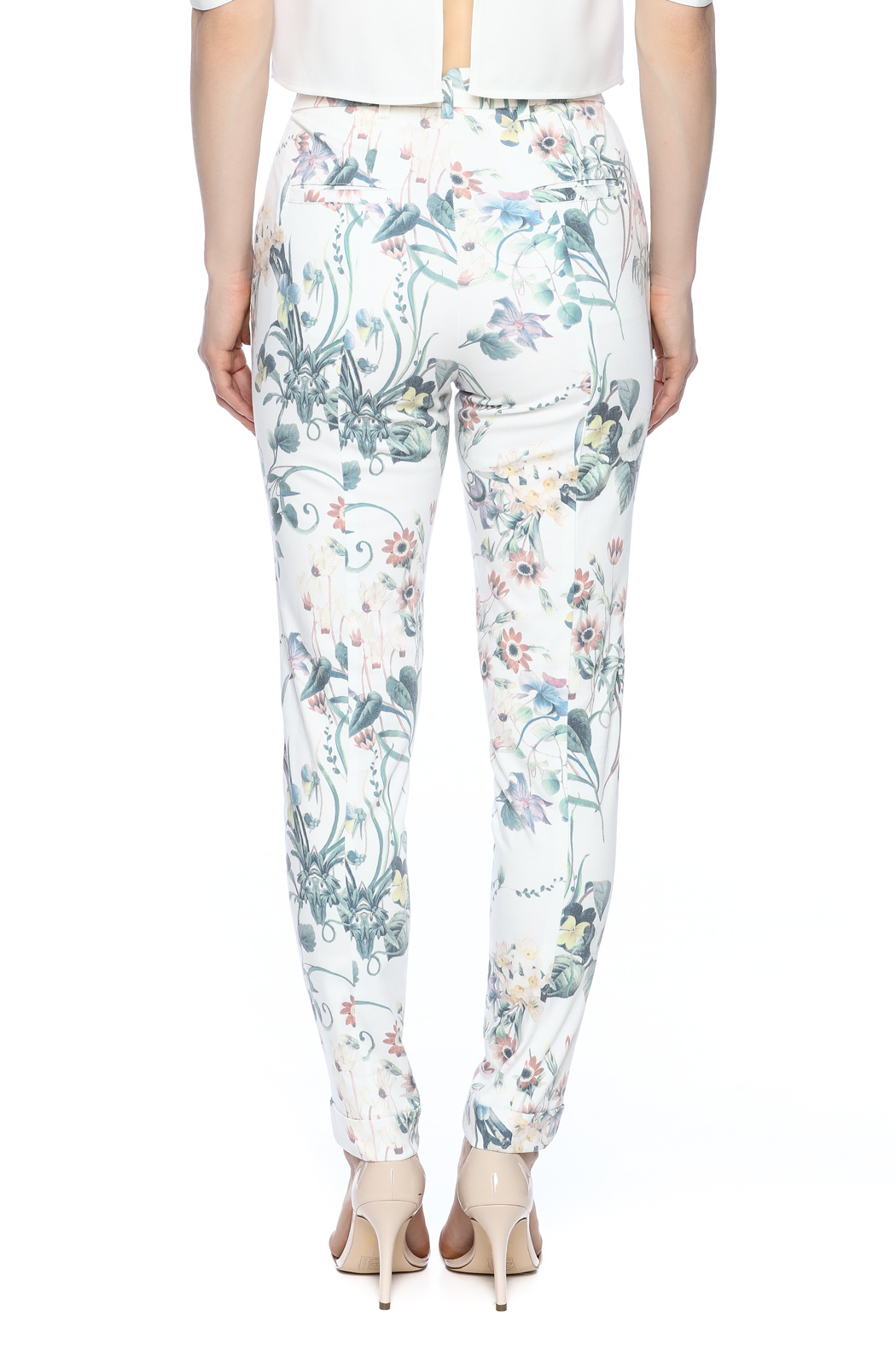 Alythea Floral Pants - Back Cropped Image
