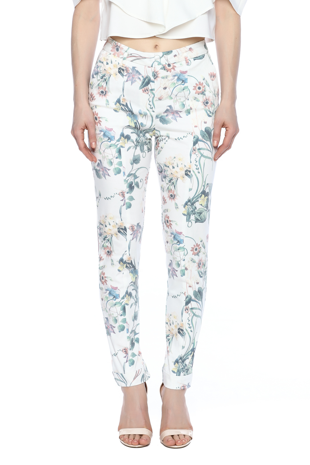 Alythea Floral Pants - Side Cropped Image