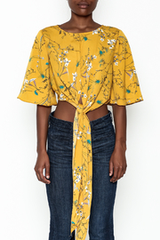 Alythea Floral Tie Top - Front full body