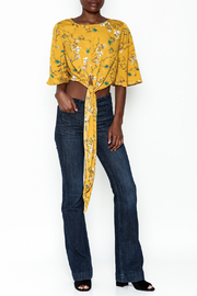 Alythea Floral Tie Top - Side cropped