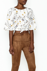 Alythea Floral Tie Top - Front cropped