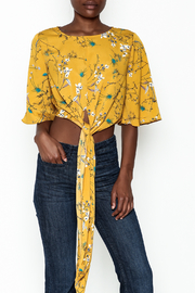 Alythea Floral Tie Top - Product Mini Image