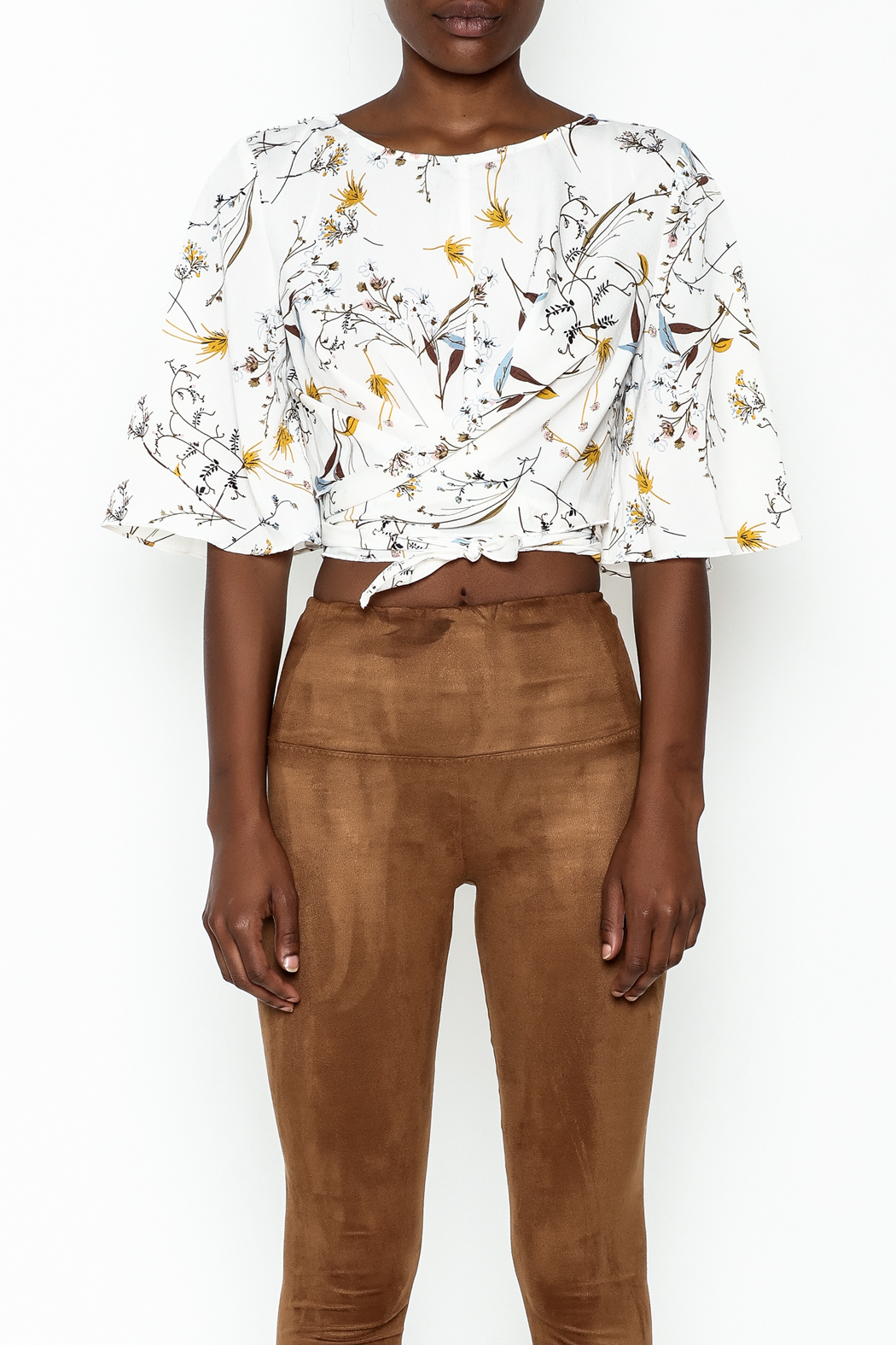 Alythea Floral Tie Top - Front Full Image