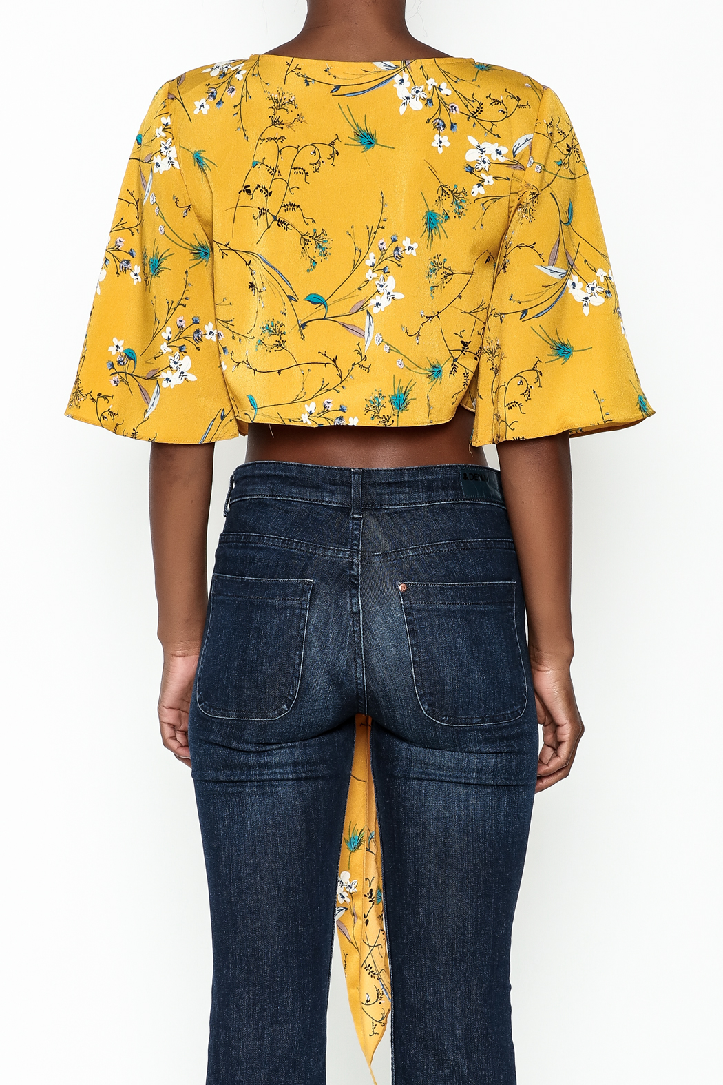 Alythea Floral Tie Top - Back Cropped Image