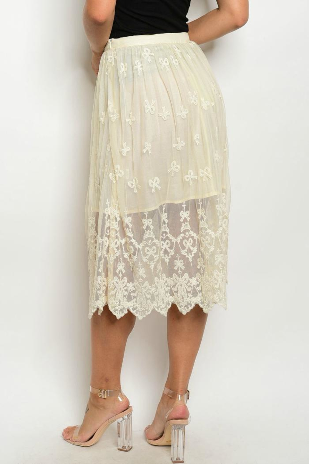 Alythea Lace Beige Skirt - Front Full Image