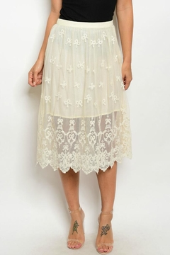 Shoptiques Product: Lace Beige Skirt