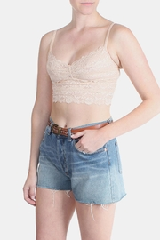 Alythea Nude Long-Line Lace-Bralette - Product Mini Image