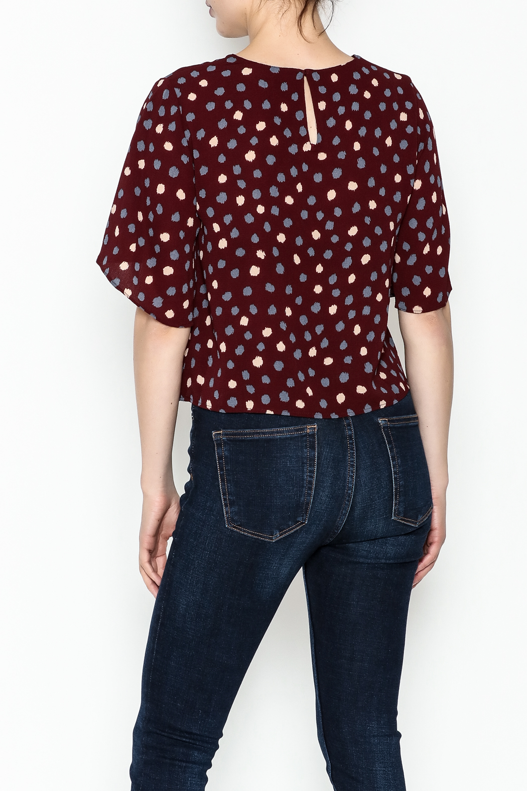 Alythea Polka Dot Top - Back Cropped Image