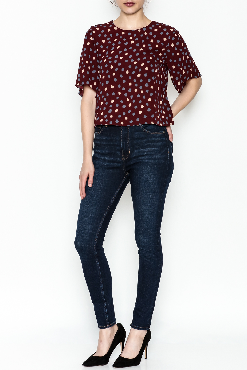 Alythea Polka Dot Top - Side Cropped Image