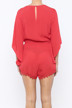 Shoptiques Product: Red Bell Sleeve Romper