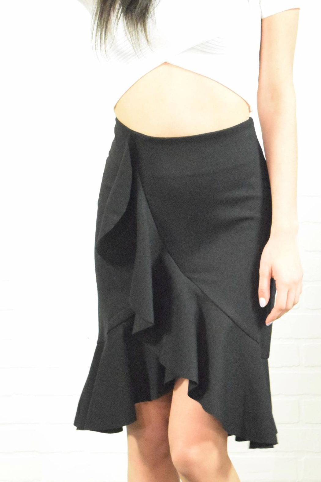 Alythea Ruffle Detail Skirt - Front Cropped Image