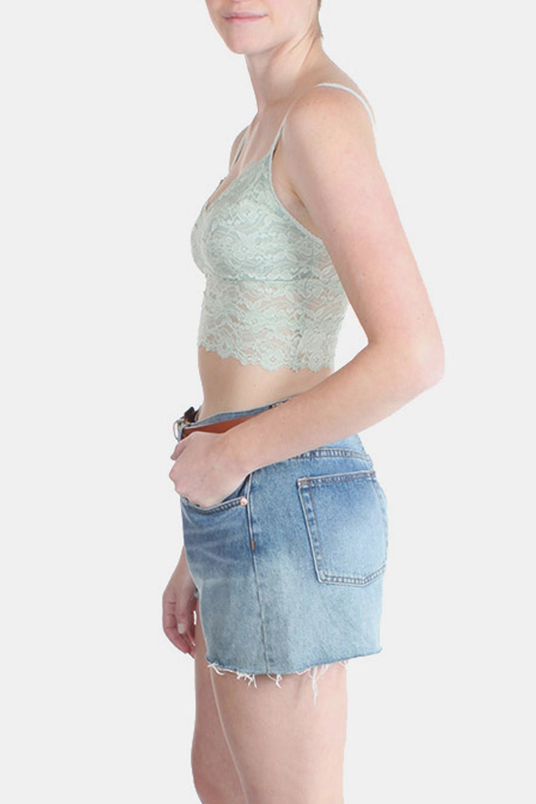 Alythea Sea Foam Bralette - Back Cropped Image