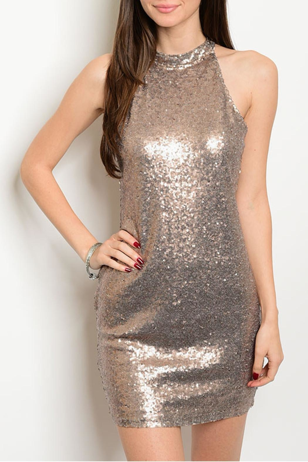 Alythea Sparkle Sleeveless Dress - Front Cropped Image
