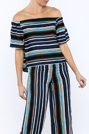 Shoptiques Product: Navy Stripe Top