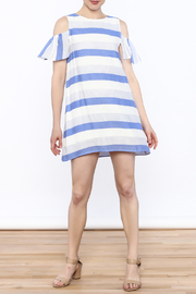 Alythea Striped Cold Shoulder Dress - Side cropped