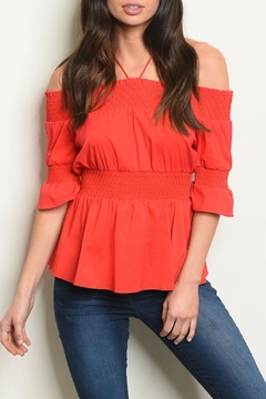 Shoptiques Product: Tomato Smocked Top