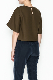 Alythea Wide Sleeve Crop Blouse - Back cropped