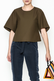Alythea Wide Sleeve Crop Blouse - Front cropped