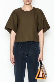 Alythea Wide Sleeve Crop Blouse - Front full body
