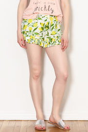 Amale Lemon Ruffle Shorts - Product Mini Image