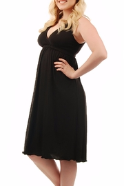 aMAMAnte! nursingwear Black Nursing Gown - Front cropped