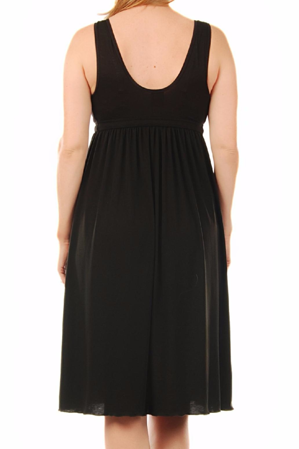 aMAMAnte! nursingwear Black Nursing Gown - Side Cropped Image