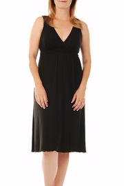 aMAMAnte! nursingwear Black Nursing Gown - Front full body