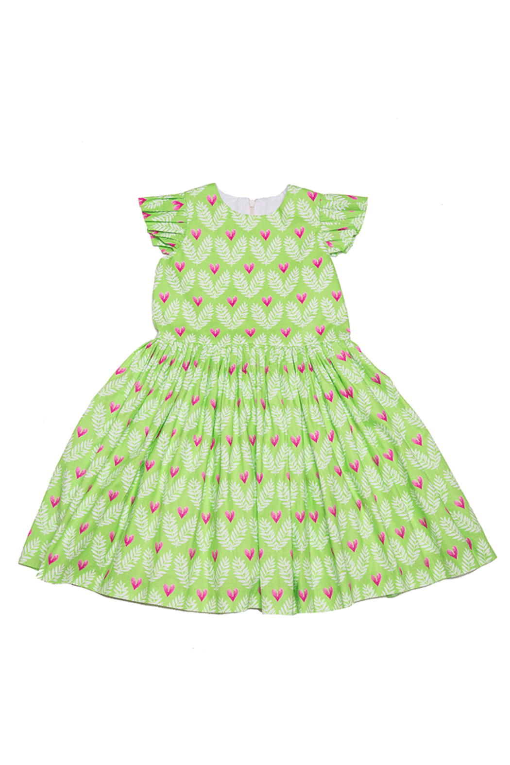 Mandy by Gema Amanda Dress Big Love Lime - Front Full Image