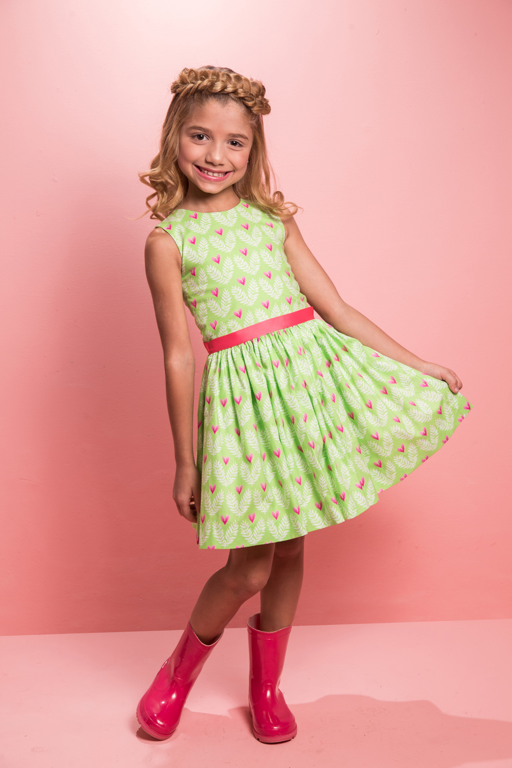 Mandy by Gema Amanda Dress Big Love Lime - Main Image