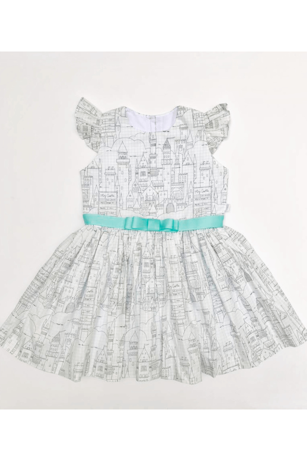 Mandy by Gema Amanda Dress Castle Plans - Front Cropped Image